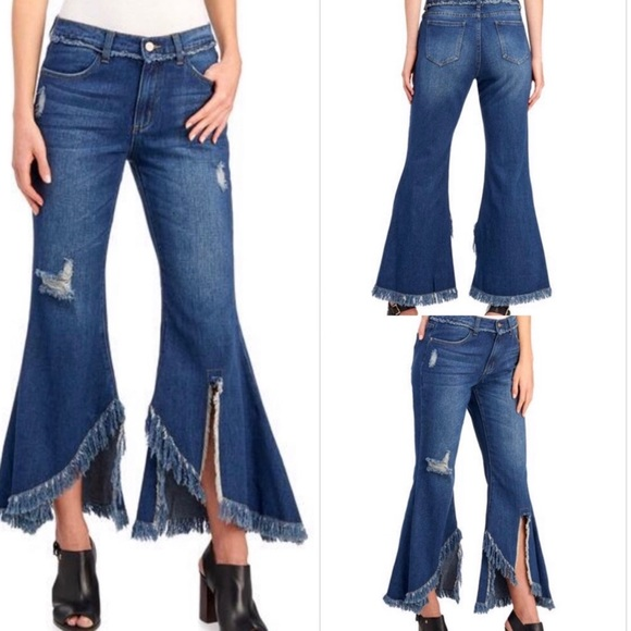 For the Republic Denim - For the Republic Fringed Benefits Bellbottom Jeans